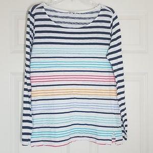 EUC Splendid long sleeved striped top